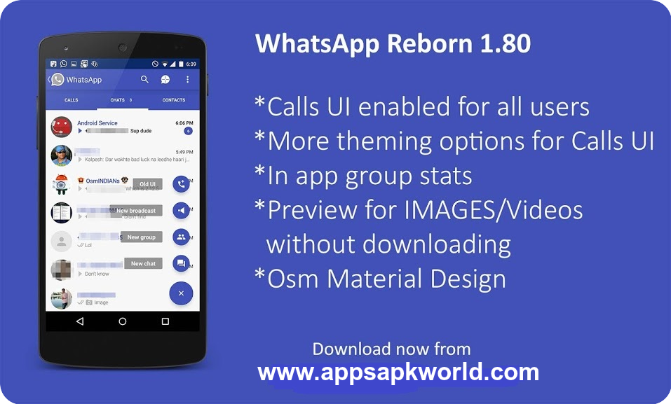WhatsApp Plus ReBorn v1.80 No Anti How to Remove Ban AntiBan Material Design With Call UI Android APK Download Image