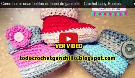 Tutorial de botas bebe al crochet