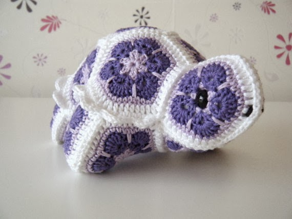 Crochet African Flower Animal Patterns : Yarn Birdy Blog: Etsy Finds: March is the month of Purple