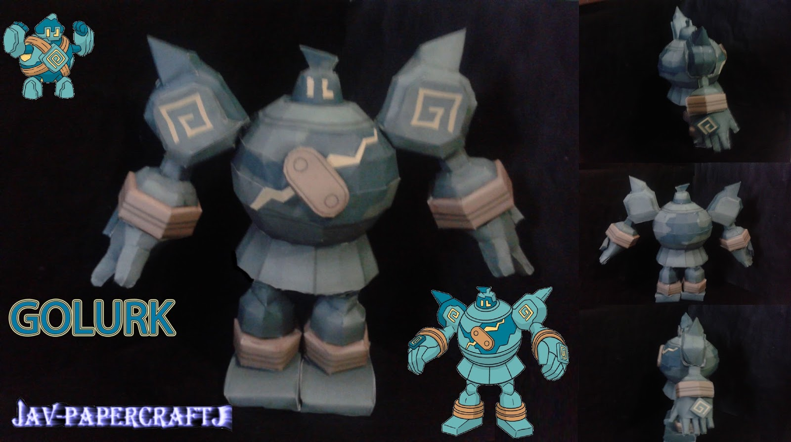 Pokemon Golurk Papercraft