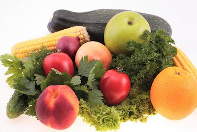 Arco iris de frutas y verduras