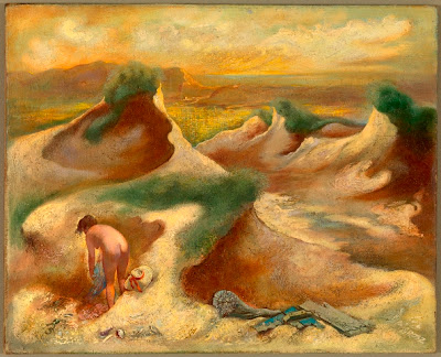 George Grosz, Nude in Dunes (1948)