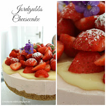 Jordgubbscheesecake till sommarfesten