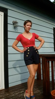 Wool Sailor Shorts
