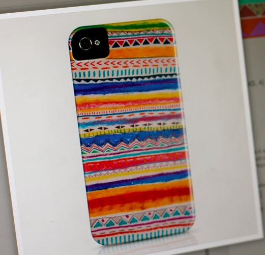 Unexpected Expectations: DIY: Tribal print iPhone case
