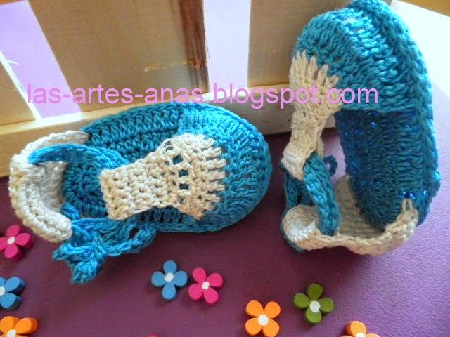 Sandalias Para Bebé En Crochet Paso — Sceneups