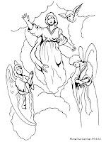 Gambar Mewarnai Isa Al-Masih Dan Para Malaikat