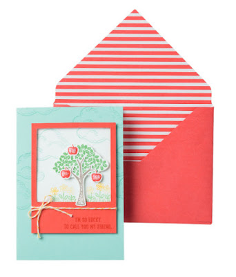 Stampin' Up! Featuring Sprinkles of Life Sneak Peek sample + Tree Punch, New In Colors, Envelope Paper