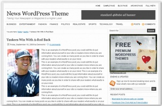 News Magazine Blogspot Templates For Adsense