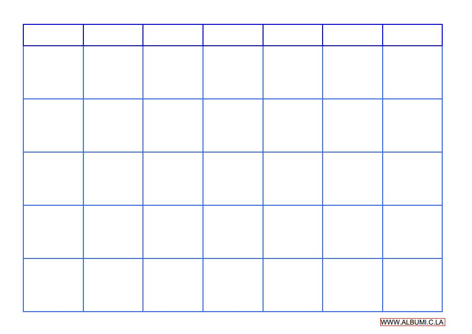 Monthly Calendar Grid : Large blank monthly calendar template bing images