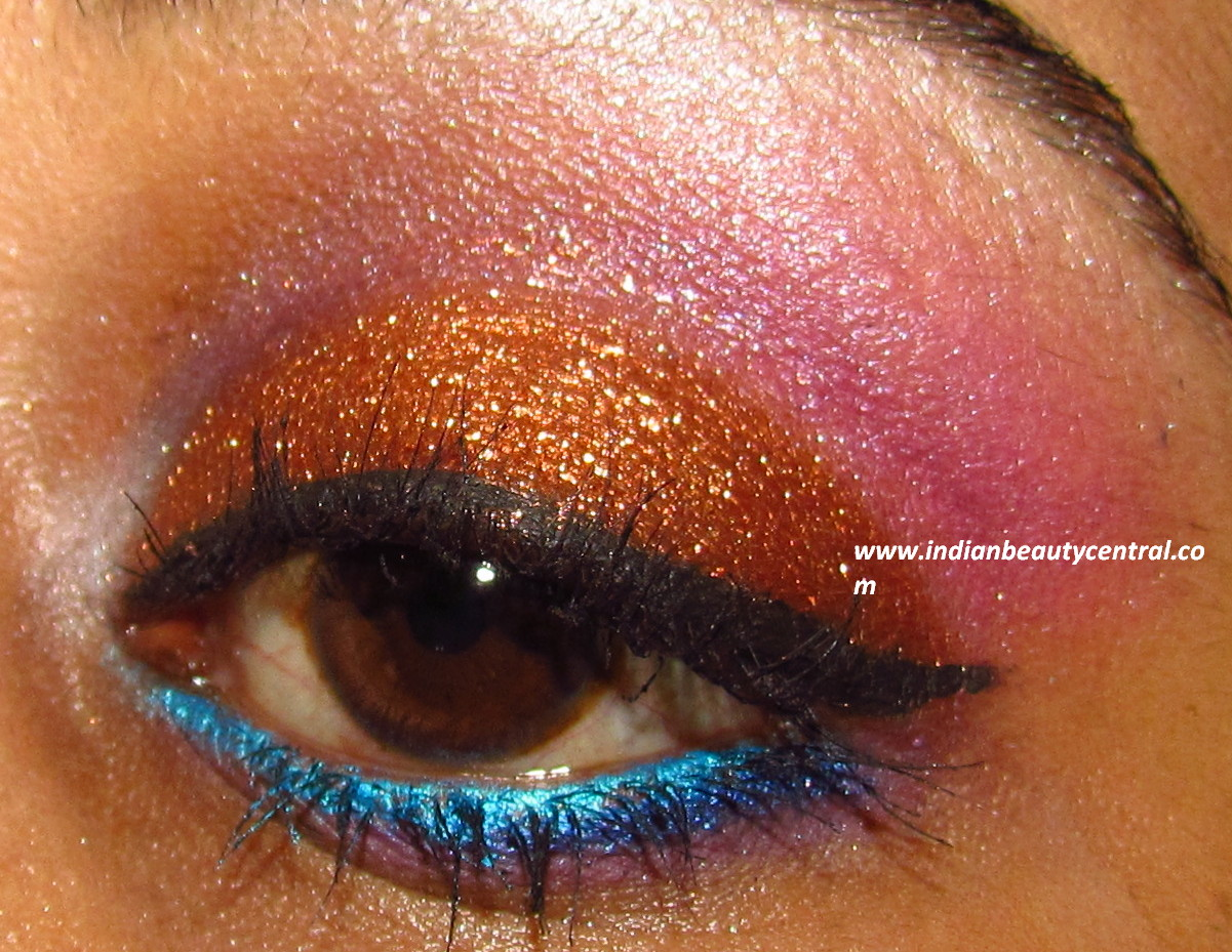 Indian Beauty Central: MAC Copper Sparkle Eye makeup Look