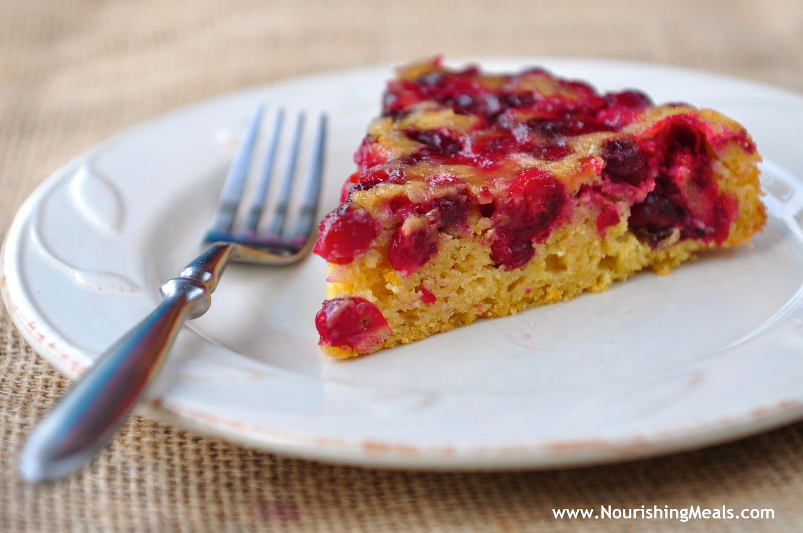 Nourishing Meals: Cranberry Orange Upside Down Cake (grain-free)