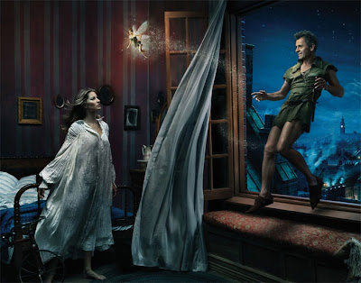 Gisele Bundchen as Wendy, Tina Fey as Tinker Bell, Mikhail Baryshnikov as Peter Pan