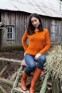 pull-orange-tricot-texture