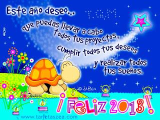 tarjeta con dibujo y mensaje de año nuevo 2013
