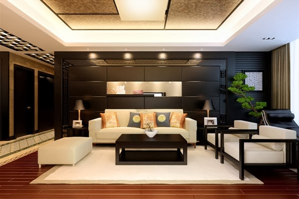 d coration salon en th me chinois d coration salon. Black Bedroom Furniture Sets. Home Design Ideas