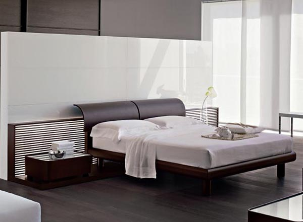 Bedroom interior design ideas using curved bases and for Interior design bedroom headboards