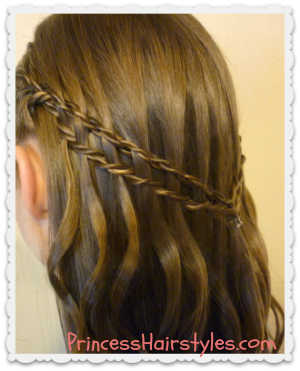 Scissor Twist Waterfall Braid Tutorial