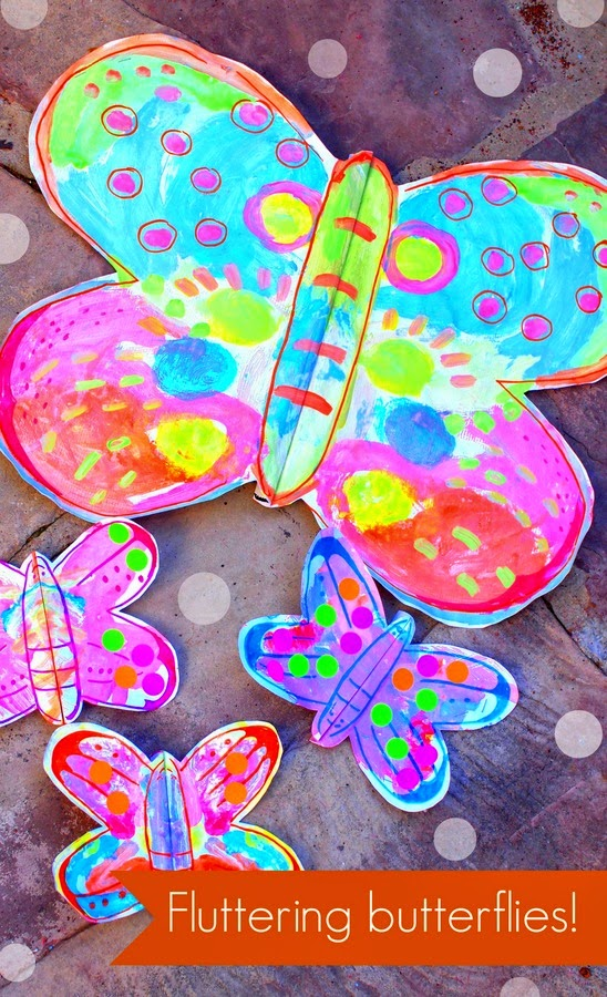 fluttering butterfly craft pink stripey socks On butterfly art and craft