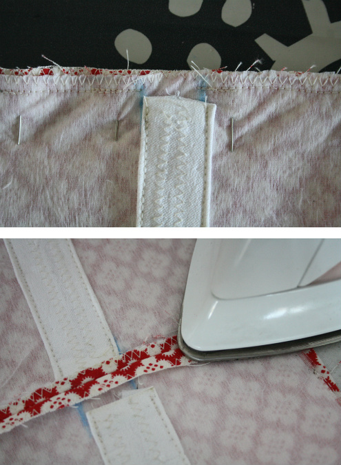 Hot water bottle cover tutorial - sewing