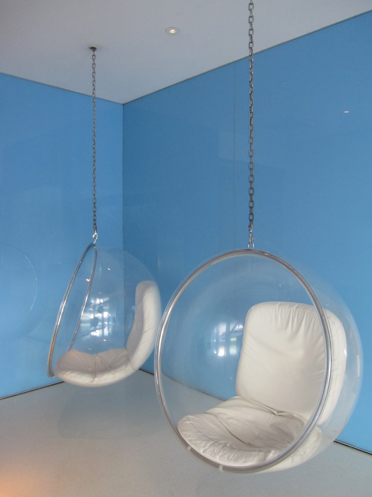 Chair hanging from ceiling