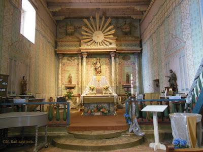 San Miguel Mission Church Interior from nave, © B. Radisavljevic