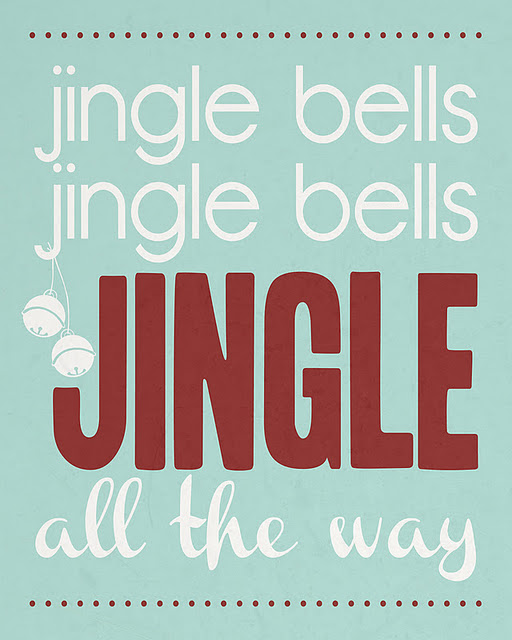 Jingle Bells free Printables featured on Design Dazzle