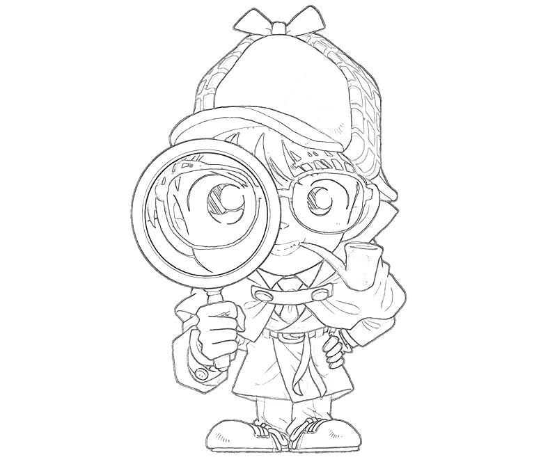 How to draw penters for Detective conan coloring pages
