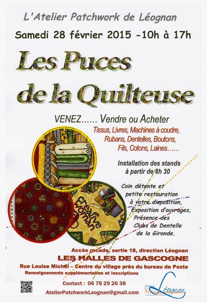 Fl neries et patch les puces de la quilteuse 2015 c est reparti pour un tour - Atelier de cuisine en gascogne ...