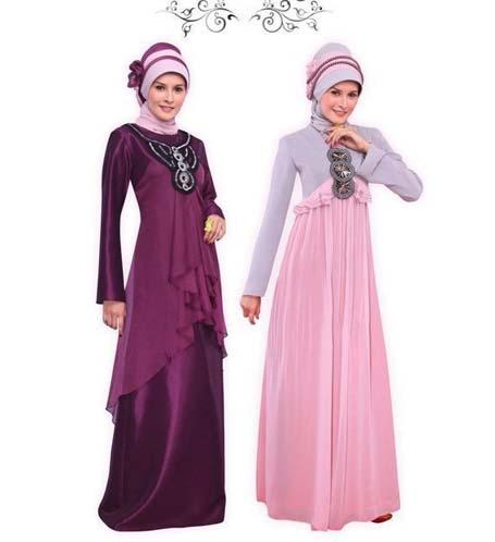 model gamis pesta muslimah