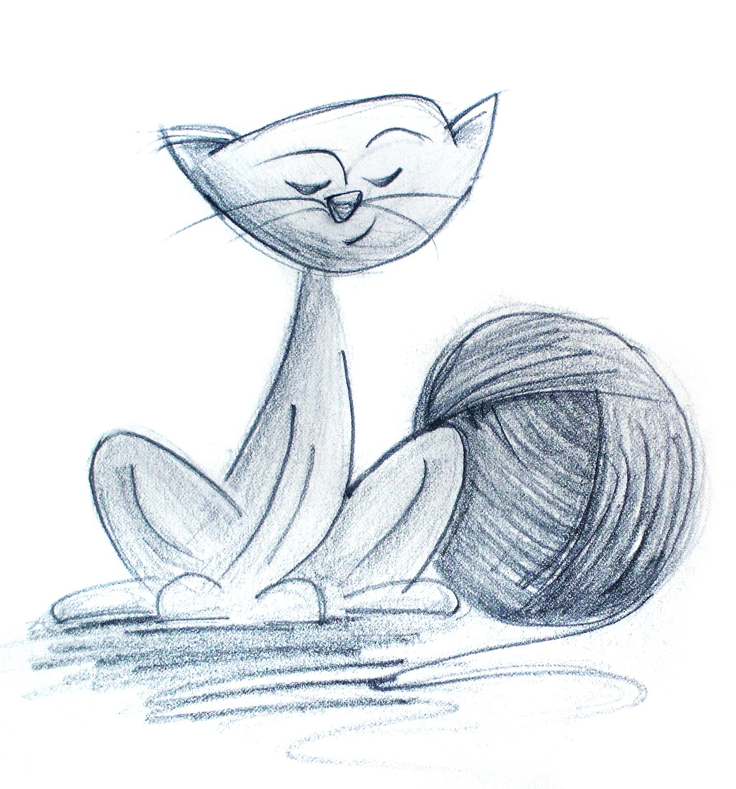 Line Drawing Yarn : The art of andy fling cat with yarn sketchbook