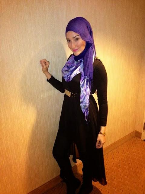 Foto Model Hijab Yasemin Asal Turki
