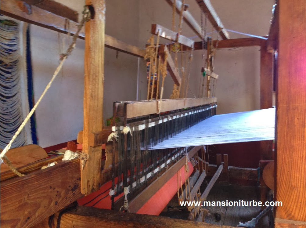 Weaving looms in Patzcuaro