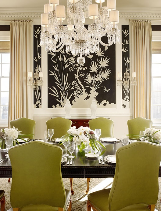 Chinoiserie Chic A Chinoiserie Christmas Green Leather – Green Leather Dining Chairs