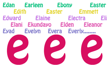 Wow I Havent Done Any Of These Letters In A While But Feel That Should Because Found Some Very Cool Springy Names Start With E