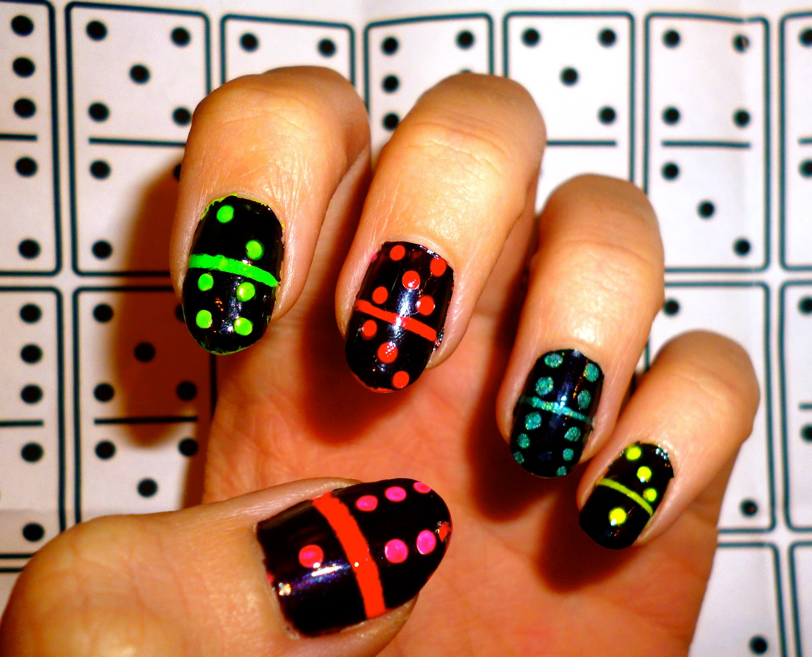 We Paired Up Our Domino Nails At The Neon Party Which Went Down Rather Well And Got Slightly Covered In Paint