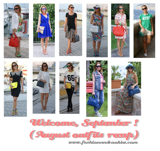 fashion blogger, august outfits recap, Fashion and Cookies
