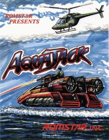 Aqua Jack arcade game flyer