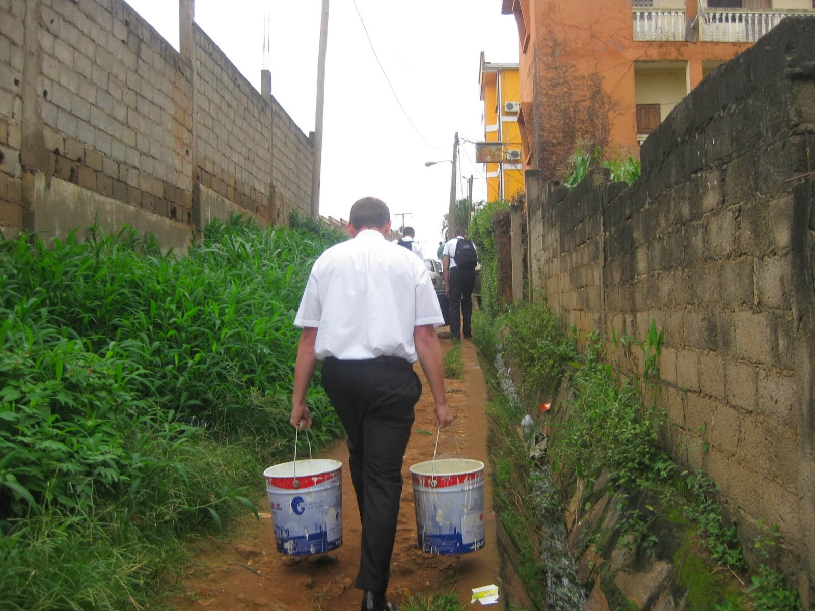 Carrying Water for Baptism