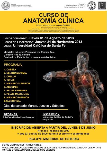 Curso de Anatomía Clínica | UCSF :: Universidad Católica de Santa Fe