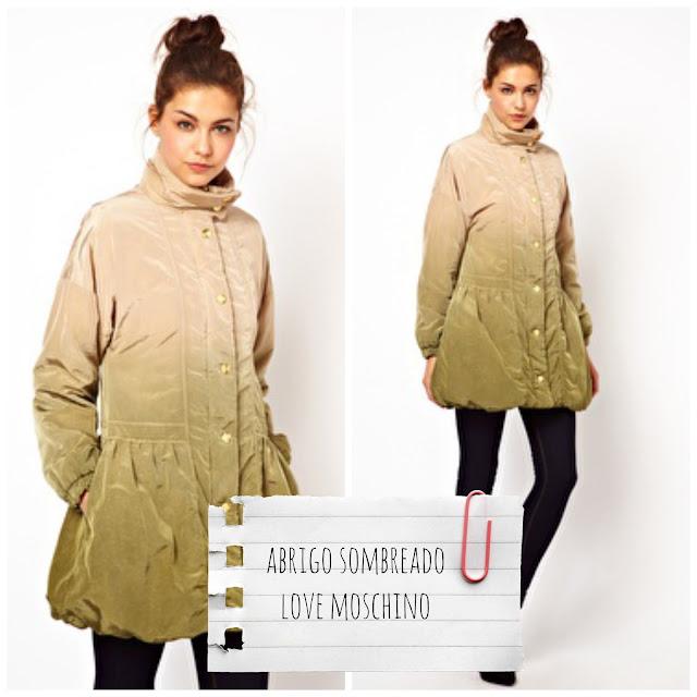 LOVE MOSCHINO - Abrigo largo con diseño sombreado y acabado guateado - €715,72 - €422,92