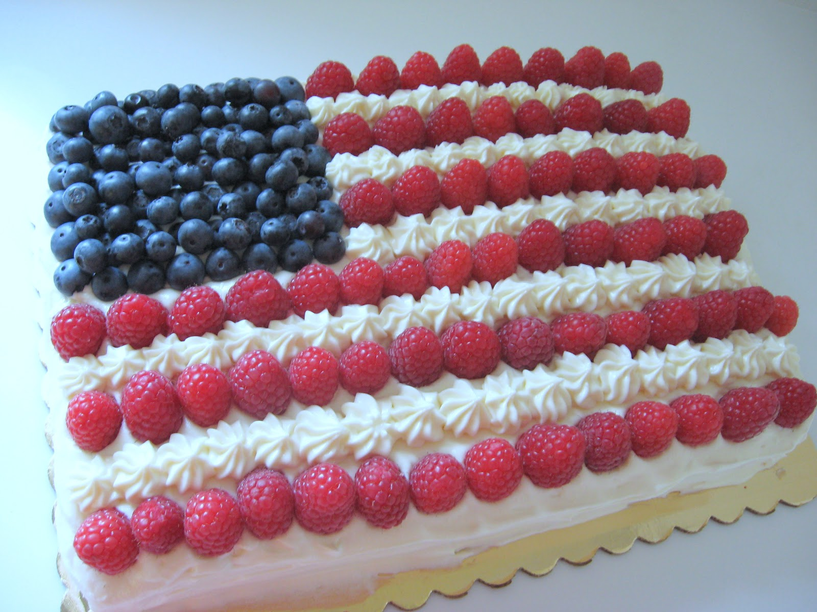 Sweetpea Samplings: Flag Cake