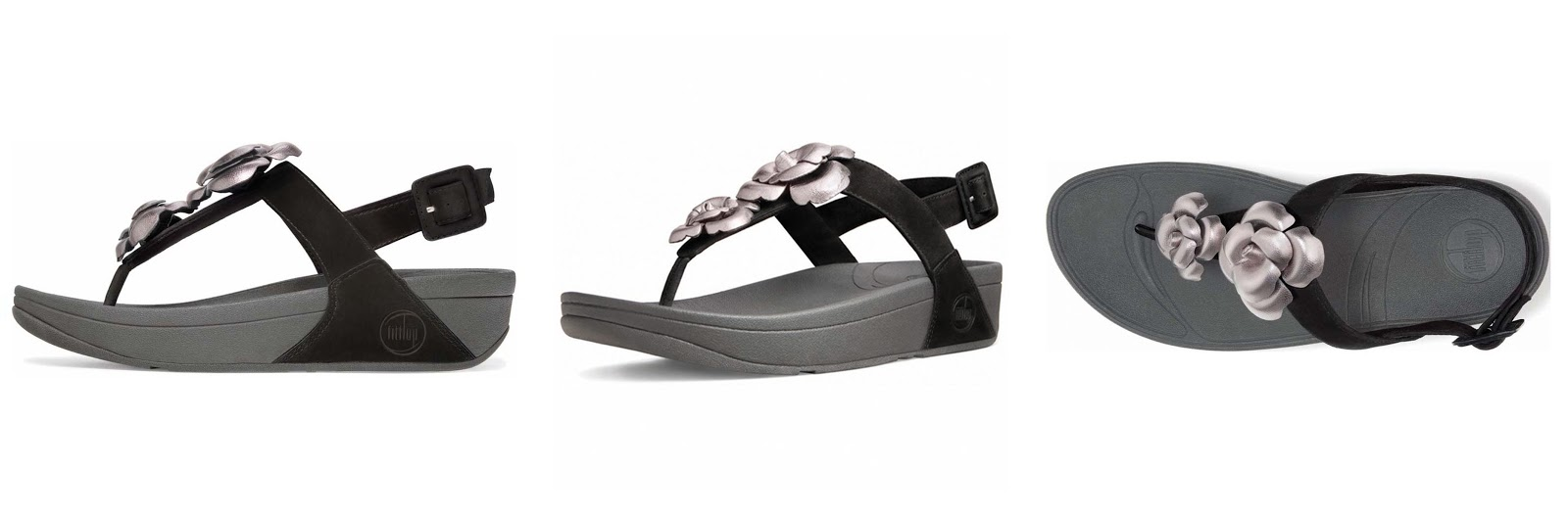 fitflop floretta pewter/black ????????