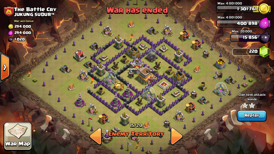 Tips dan Kumpulan War Base TH 8 Anti Dragon, Hog Rider, dan 3 Star