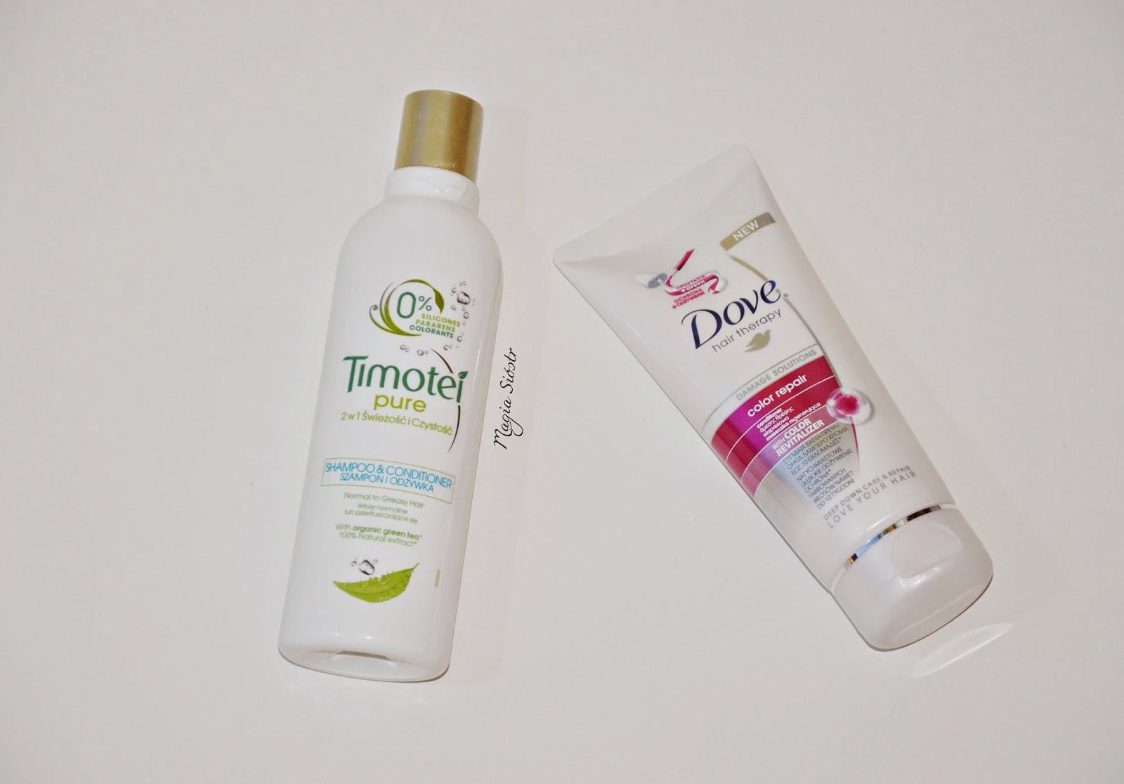 szampon, odżywka, Dove, Timotei