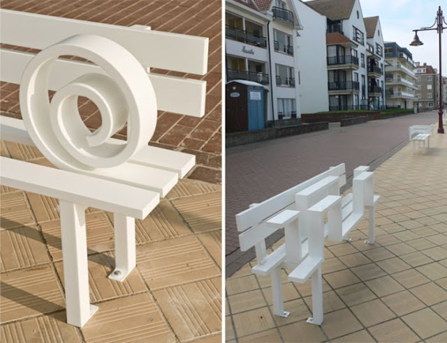 Weird design benches, design, art, pictures