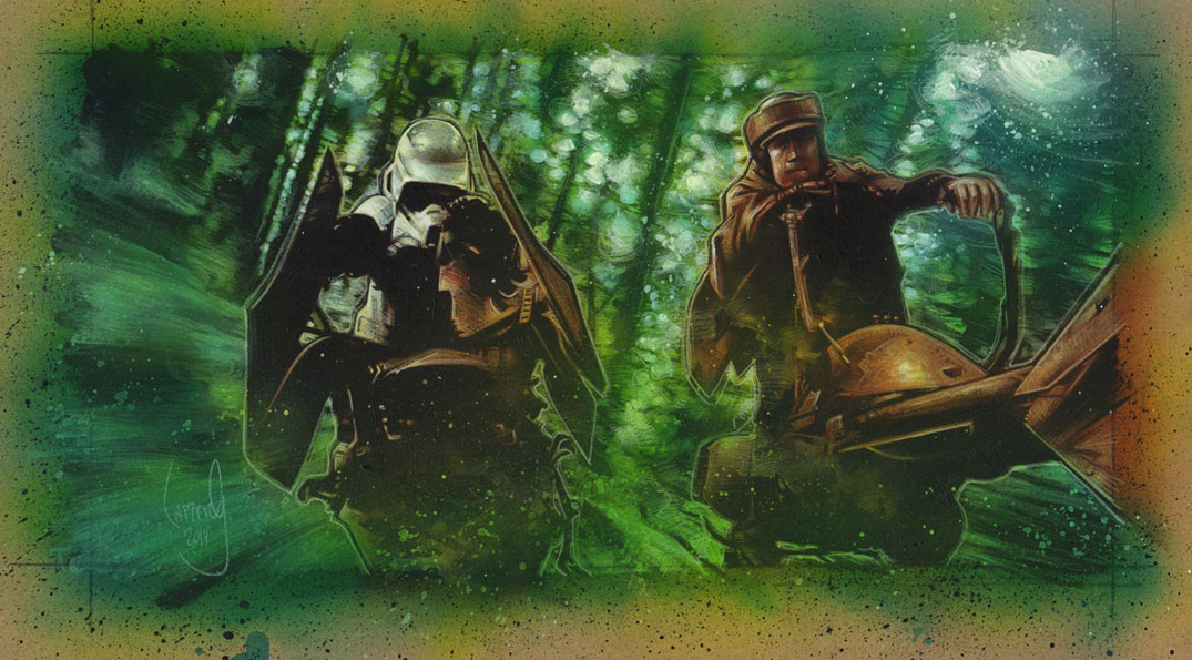 Speeder Bike Scout Race, Artwork is Copyright © 2014 Jeff Lafferty