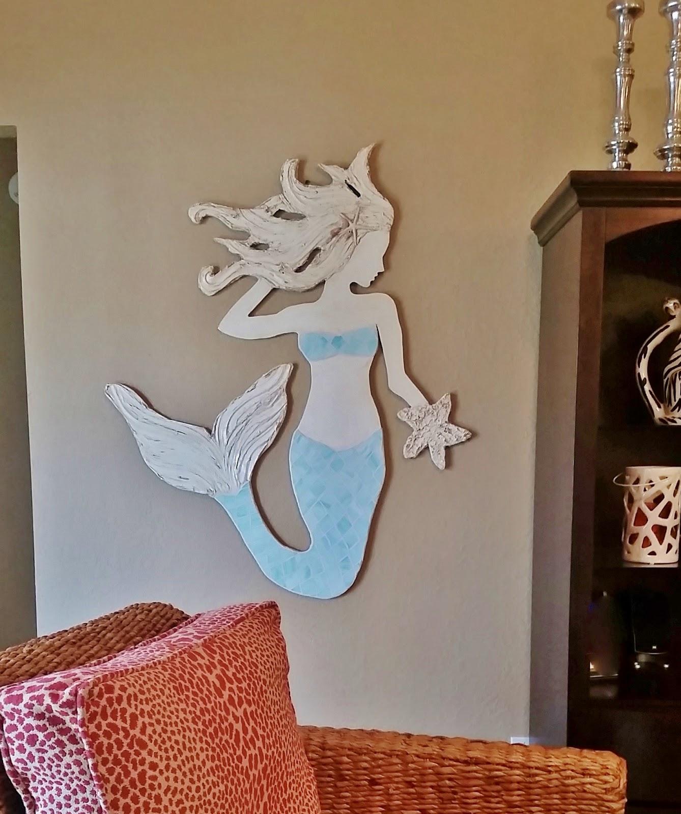 mermaid coastal art