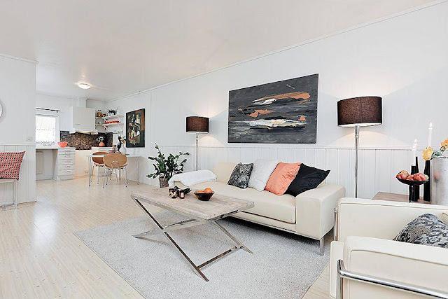 apartamento decorado, decoração de apartamentos pequenos, kitinete, quitinete, decoração tons neutros