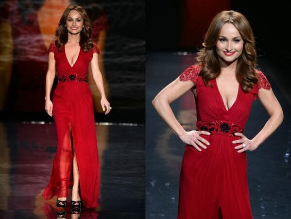 Giada Red Dress Runway